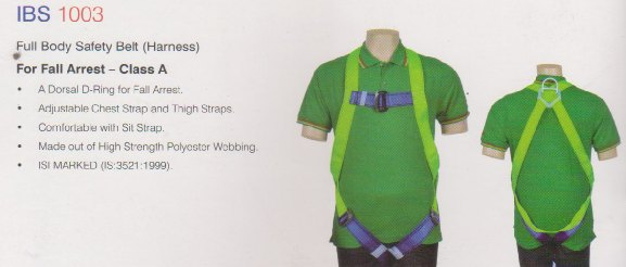IBS 1003 Full Body Safety Belt Safety Harness for Fall Arrest Chennai