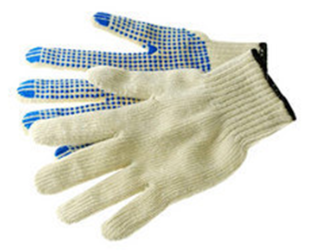 PVC dotted hand safety gloves